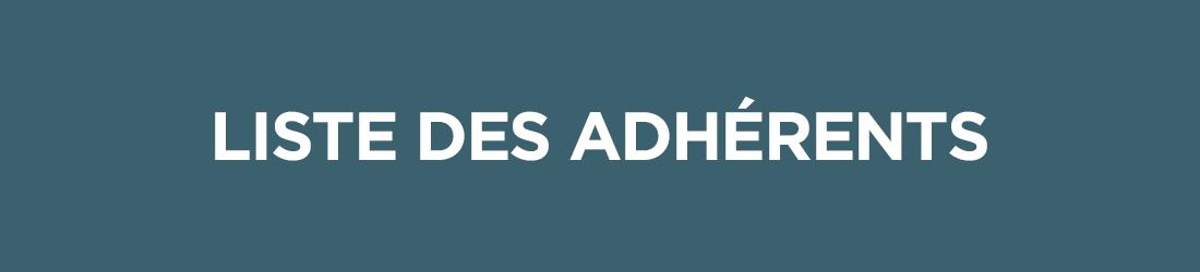 Adhérer - liste des adhérents
